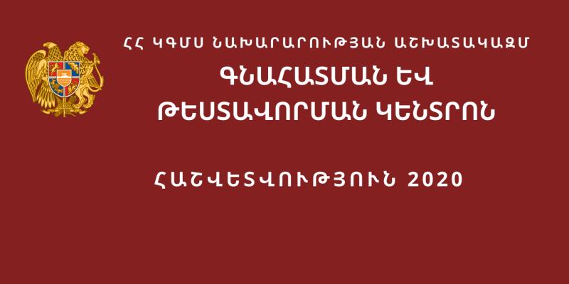 «Գնահատման և թեստավորման կենտրոն» ՊԱՈԿ-ի 2020 թվականի ամփոփ հաշվետվություն