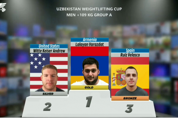 Armenian weightlifters win medals at an international online tournament