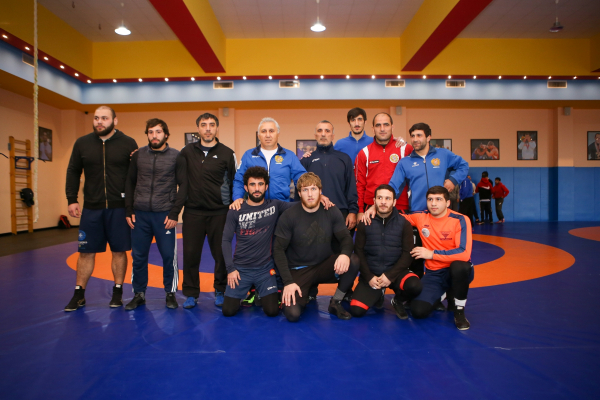 Greco-Roman wrestlers take part in the World Cup
