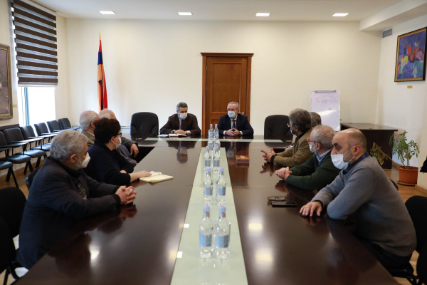 RA ESCS Minister Vahram Dumanyan receives composers
