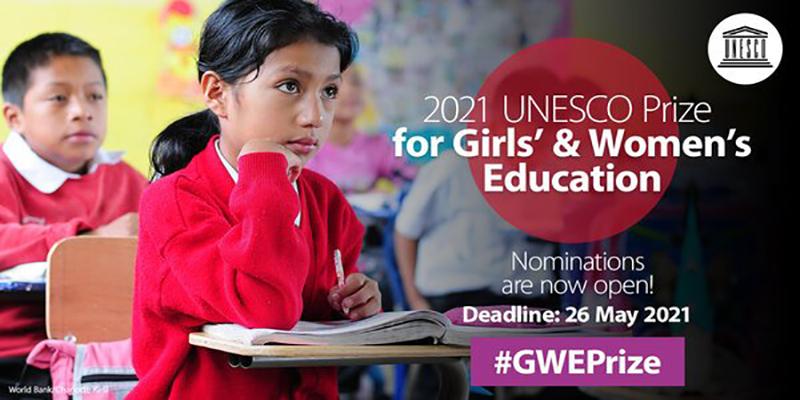 «Կանանց և աղջիկների կրթություն». ՅՈՒՆԵՍԿՕ-ի մրցանակ