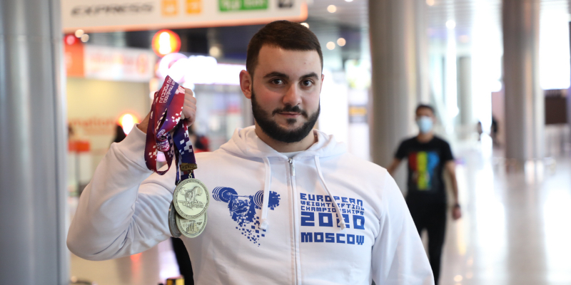Armenian national weightlifting team returns from the European Championships with medals and inspiring results