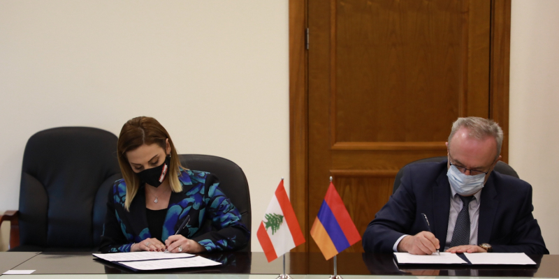 Letter of intent for cooperation is signed between the RA Ministry of Education, Science, Culture and Sports and the Ministry of Youth and Sports of the Lebanese Republic