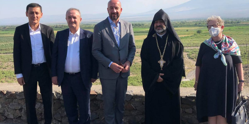Charles Michel visits Khor Virap Monastery
