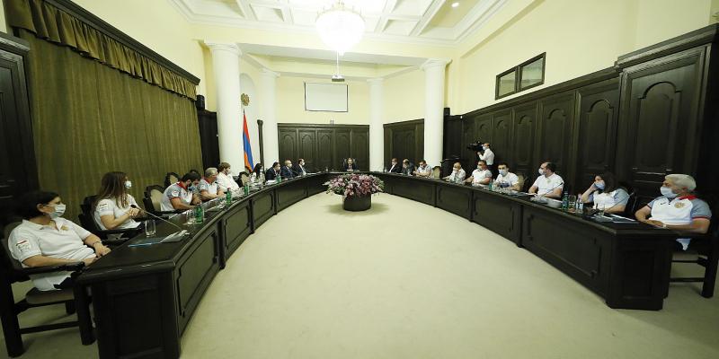 Վարչապետ Նիկոլ Փաշինյանը հյուրընկալել է Հայաստանի օլիմպիական հավաքականին