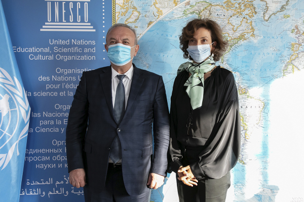 RA ESCS Minister Vahram Dumanyan meets with UNESCO Director-General Audrey Azoulay