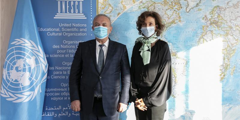 ՀՀ ԿԳՄՍ նախարար Վահրամ Դումանյանը հանդիպել է ՅՈՒՆԵՍԿՕ-ի գլխավոր տնօրեն Օդրի Ազուլեի հետ